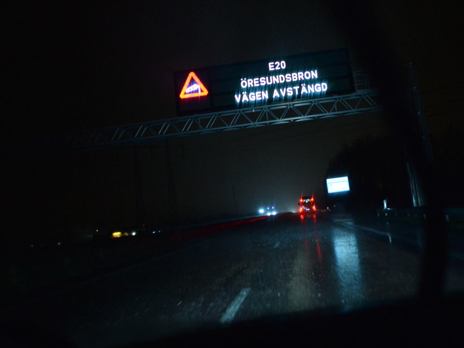 Øresundsbroen er stengt på grunn av stormen «Gorm»
