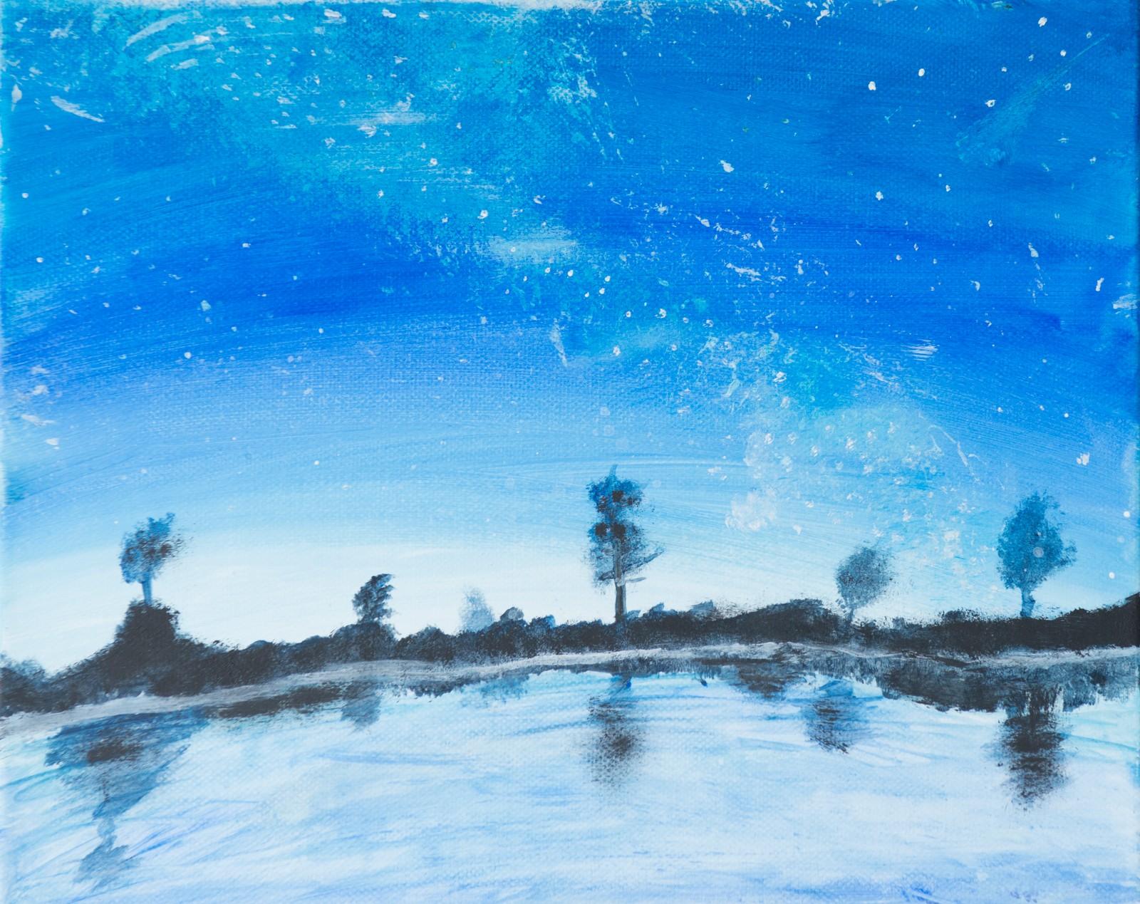 Melkeveien over vatn - Merete Honningsvåg, Selje