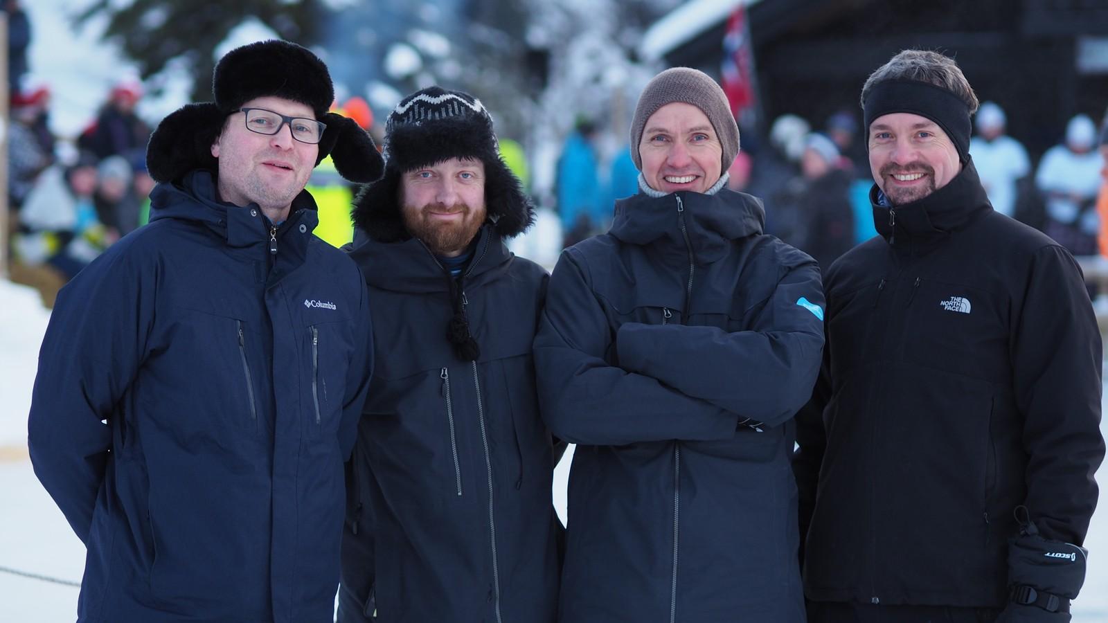 NRK Hedmark og Oppland stiller også lag, og kaller seg Norsk Rikskringkosting. Fra venstre: Erlend Kester Mo, Arne Sørenes, Ole Martin Ringlund og Roar Berntsen.