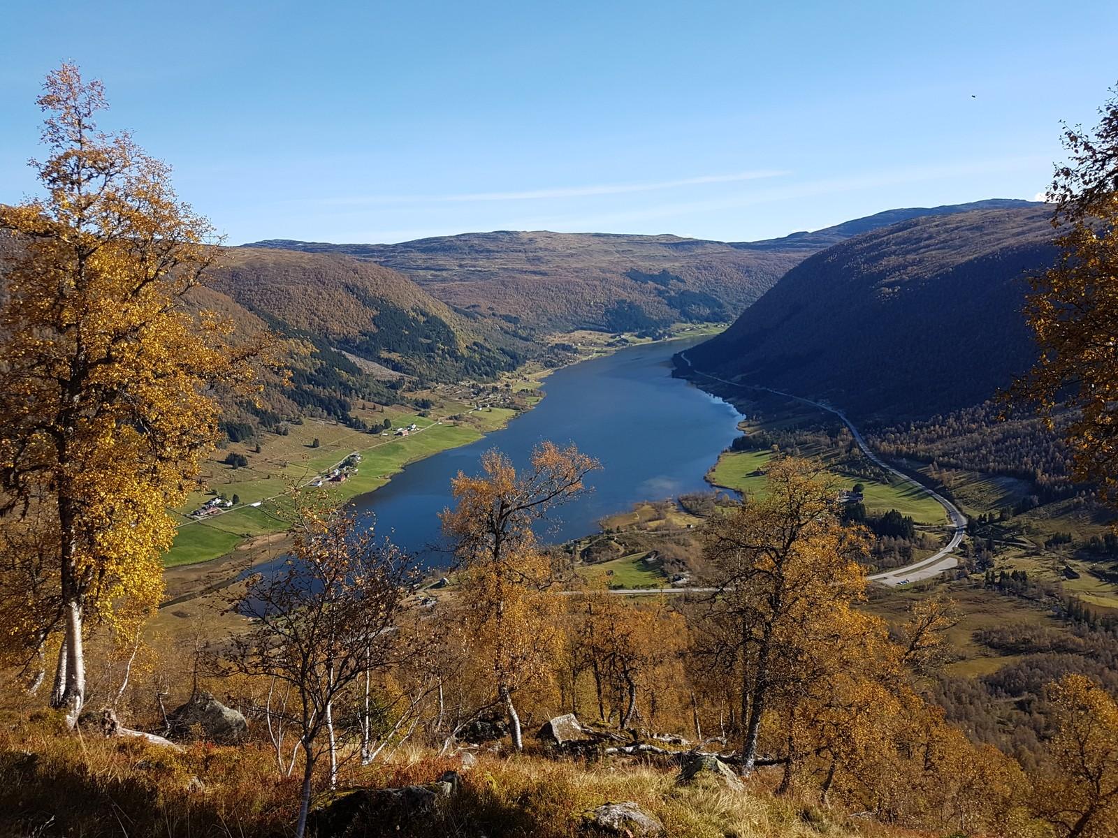 Sogndalsdalen sett frå oppstiginga til Togga.