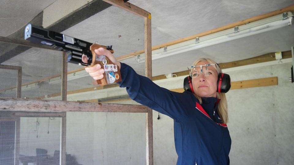 Opptak · NM-veka: Skyting, finpistol kvinner