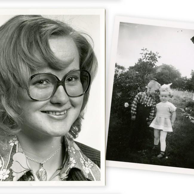 Private bilder av Anne Wold som ung