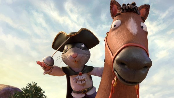 Britisk animasjonsfilm. Røverrotta tar det han vil ha fra de han møter på veien. Han stjeler kløver fra haren, nøtter fra ekornet og høy fra sin egen hest. Ingen kan føle seg trygge, før den modige vesle anda klarer å lure Røverrotta trill rundt.