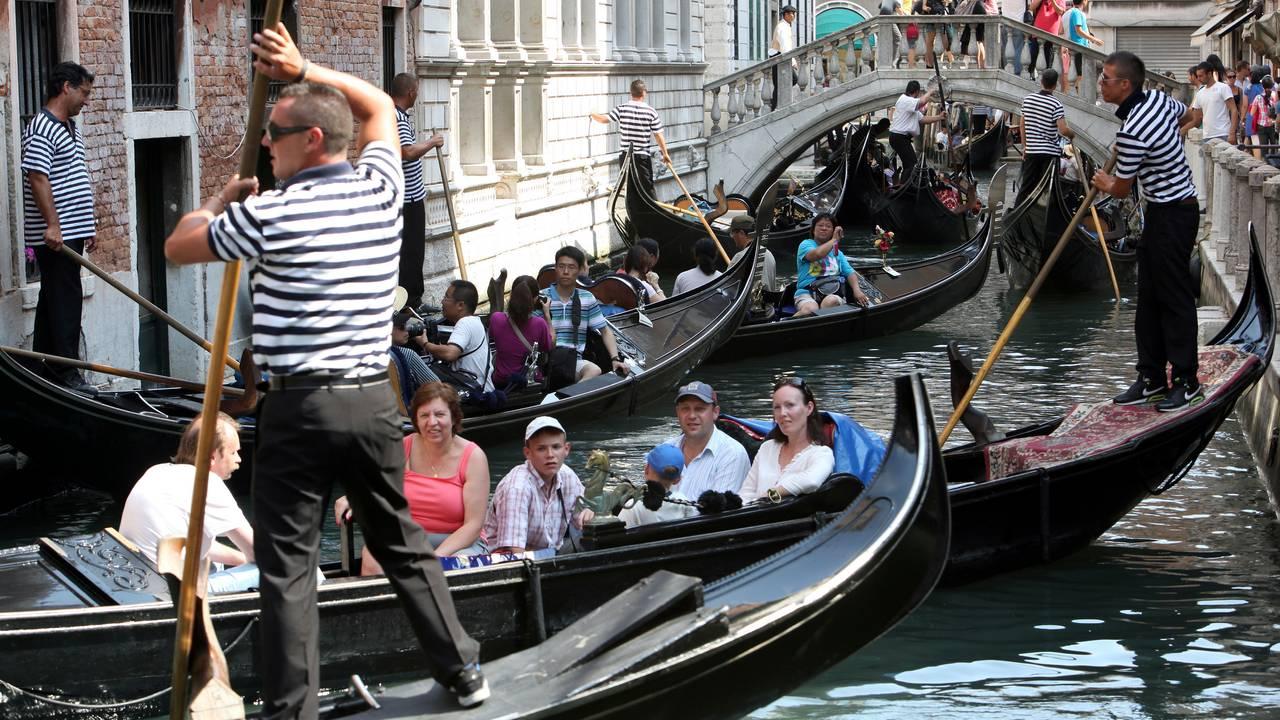 Kanaler i Venezia. Før