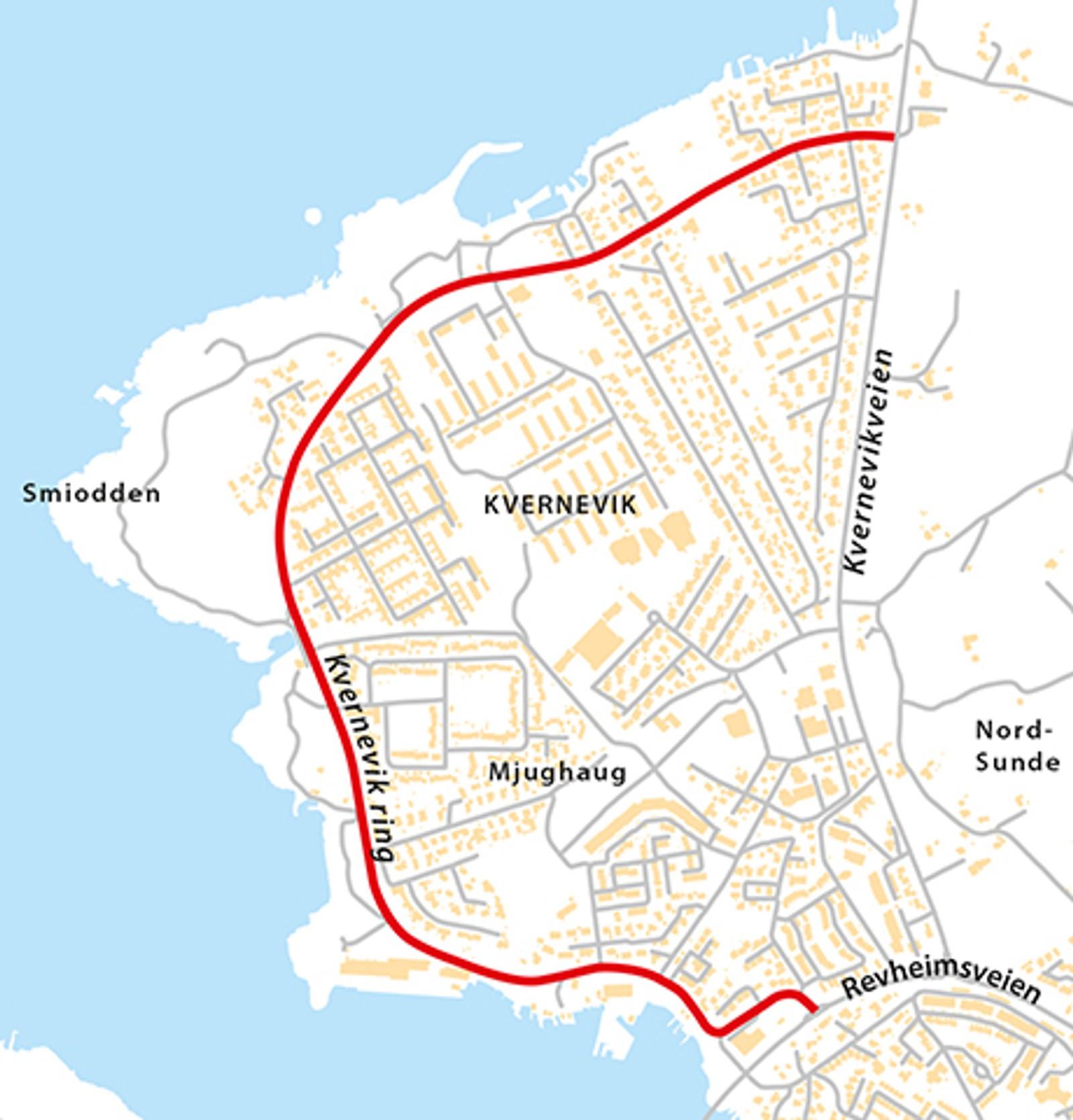 Kvernevik ring (Fv445), natt til onsdag 6. mai.