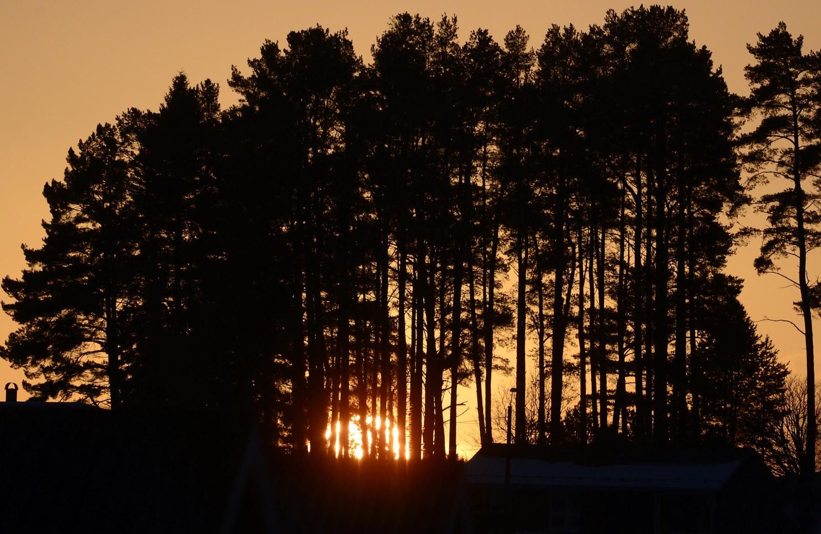 Solnedgang ved Straumen, Inderøy