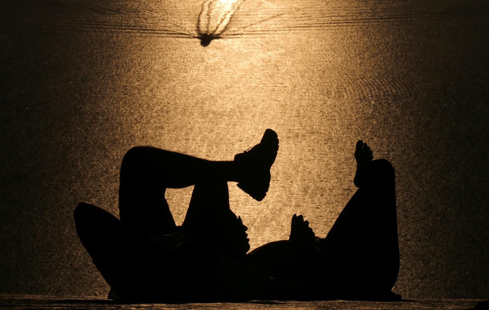 Solnedgang ved Parque da Cidade i Brasil.