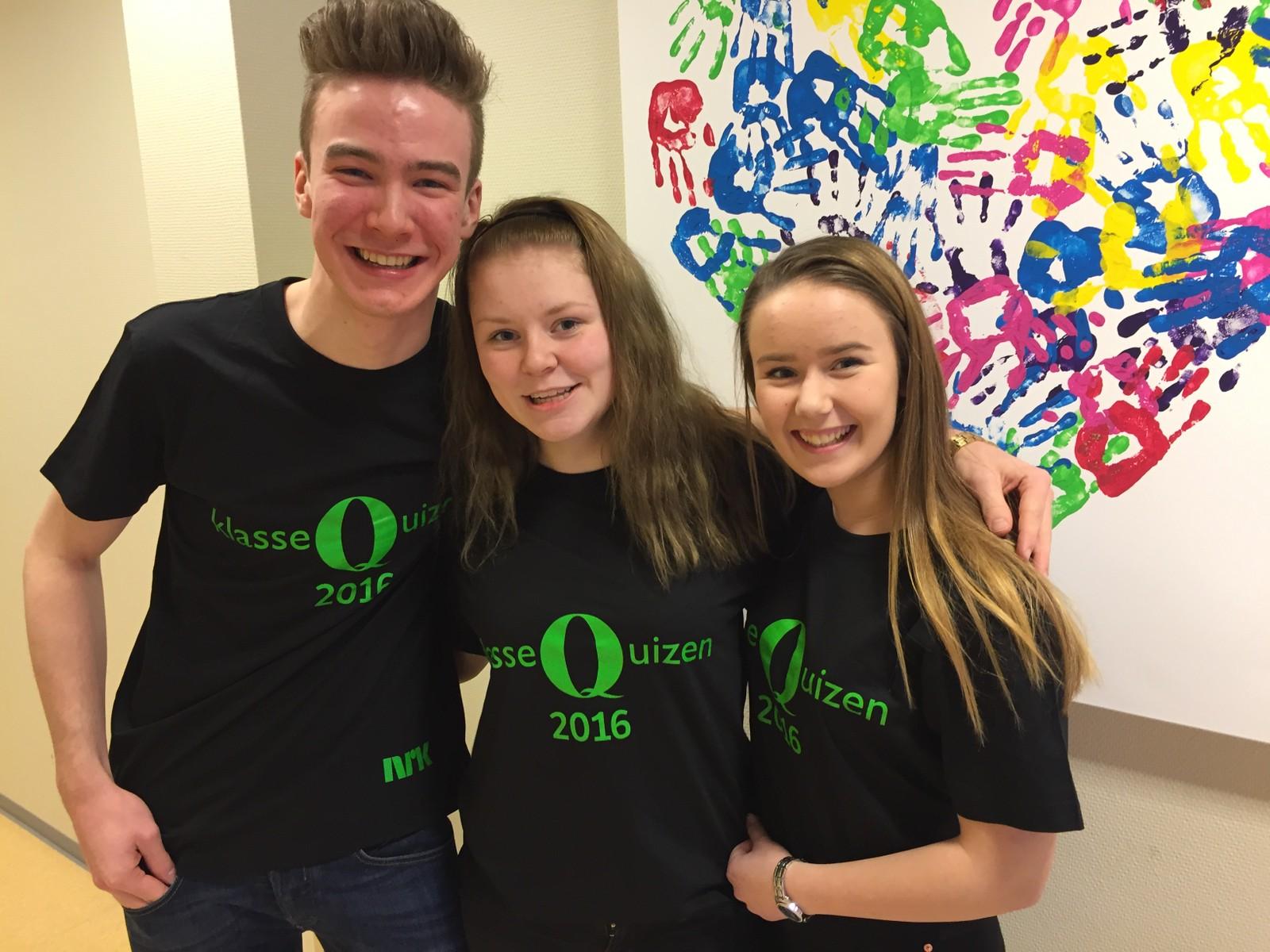 Ludvig Elnan Jacobsen, Tina Anita S. Hårstadstrand og Matilde Hanssen fra Lauvsnes skole i Flatanger fikk 9 poeng.