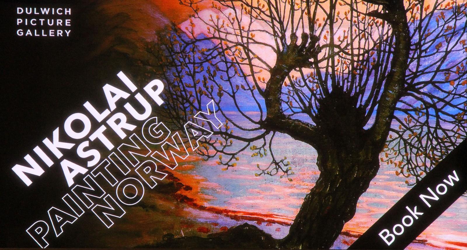 Digital promo i resepsjonen til Dulwich Picture Gallery.