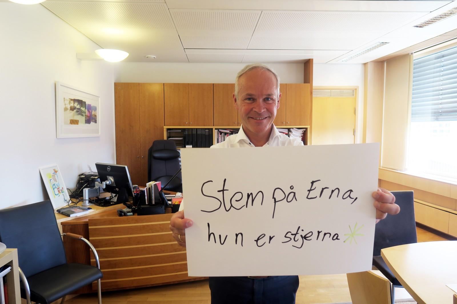 JAN TORE SANNER (H): «Stem på Erna, hun er stjerna».