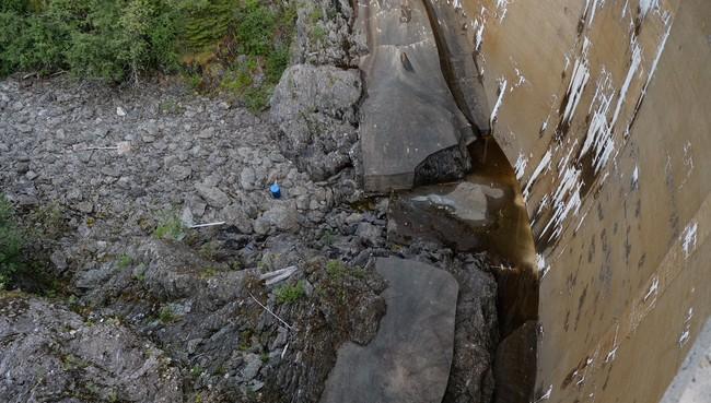 Lav vannstand i vannmagasinet til Sokna kraftverk i Melhus kommune