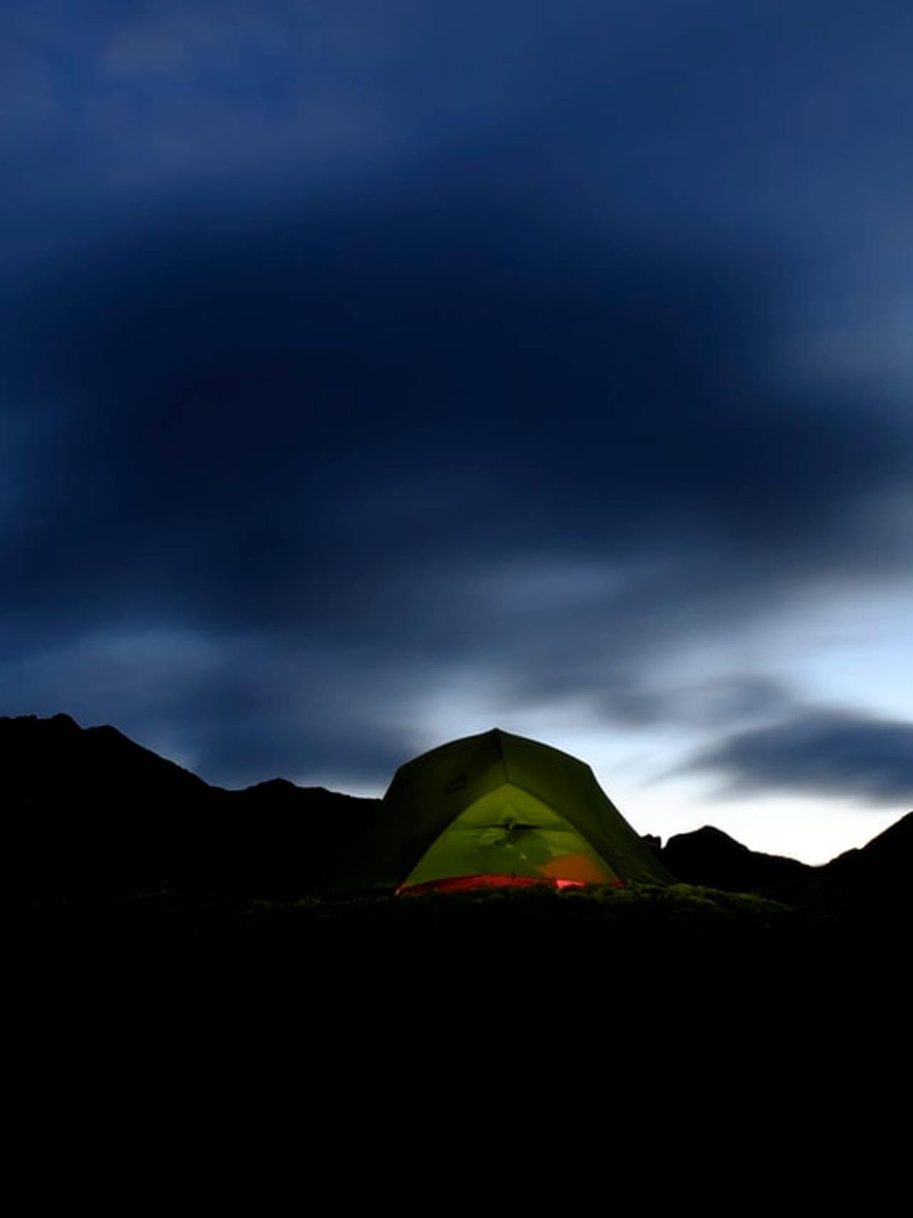 Telt i Lofoten.