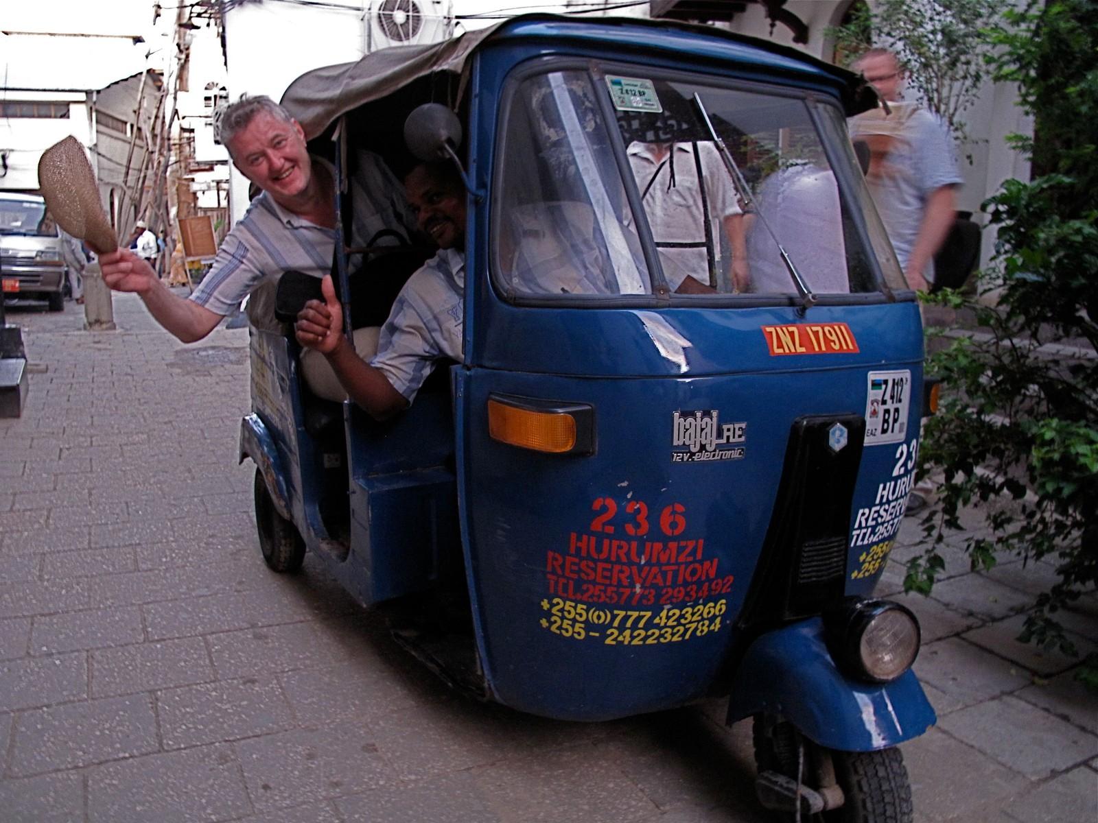 Men hvor finner jeg en taxi? På Zanzibar.