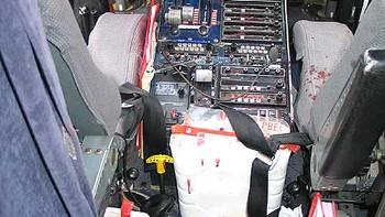 Cockpiten i Kato Air-flyet