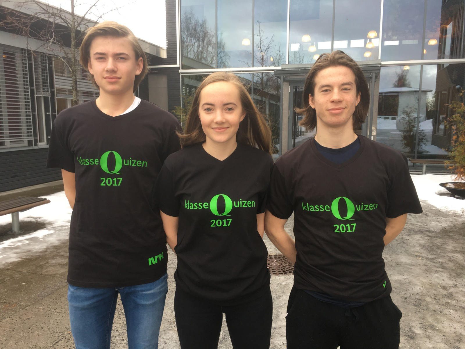 Ola Nordrum Isachsen, Ingrid Nygård Zachariassen og Sander Eng Strand fra Ener ungdomsskole klarte ni rette.