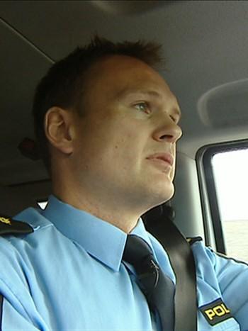 Politibetjent Eystein Håkonsund ved Røros lensmannskontor.