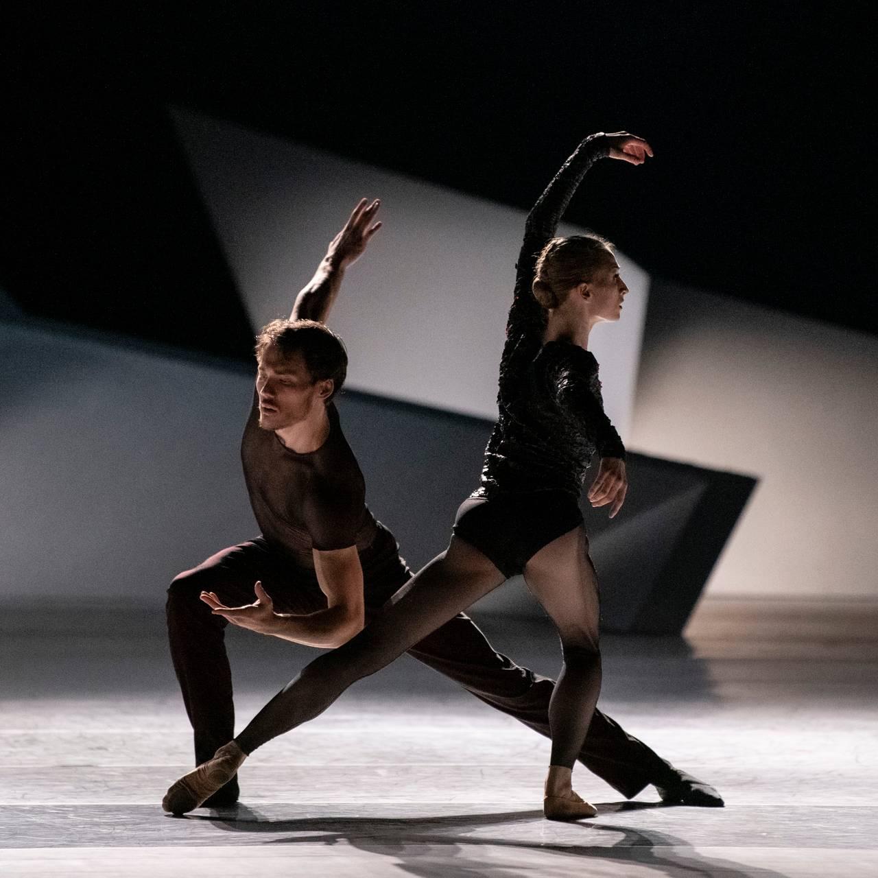 Erik Murzagaliyev og Grete Sofie Borud Nybakken i ballettforestillingen