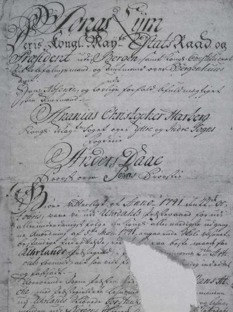 Skulefundas i Aurland frå 1741.