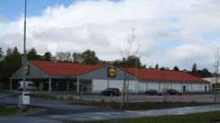 Lidl-butikken i Florø før han gjekk over til Rema 1000. Foto:Ottar Starheim, NRK.