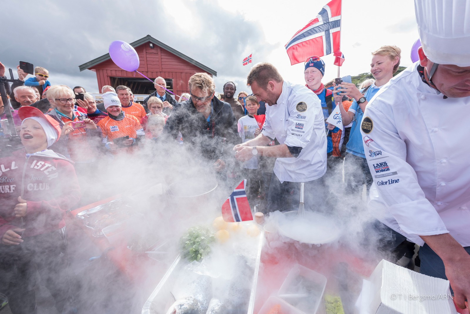 Flying Culinary Circus under Arctic Race.