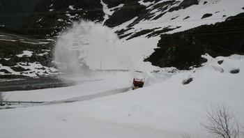 Brøyting mellom Lysebotn og Sirdal