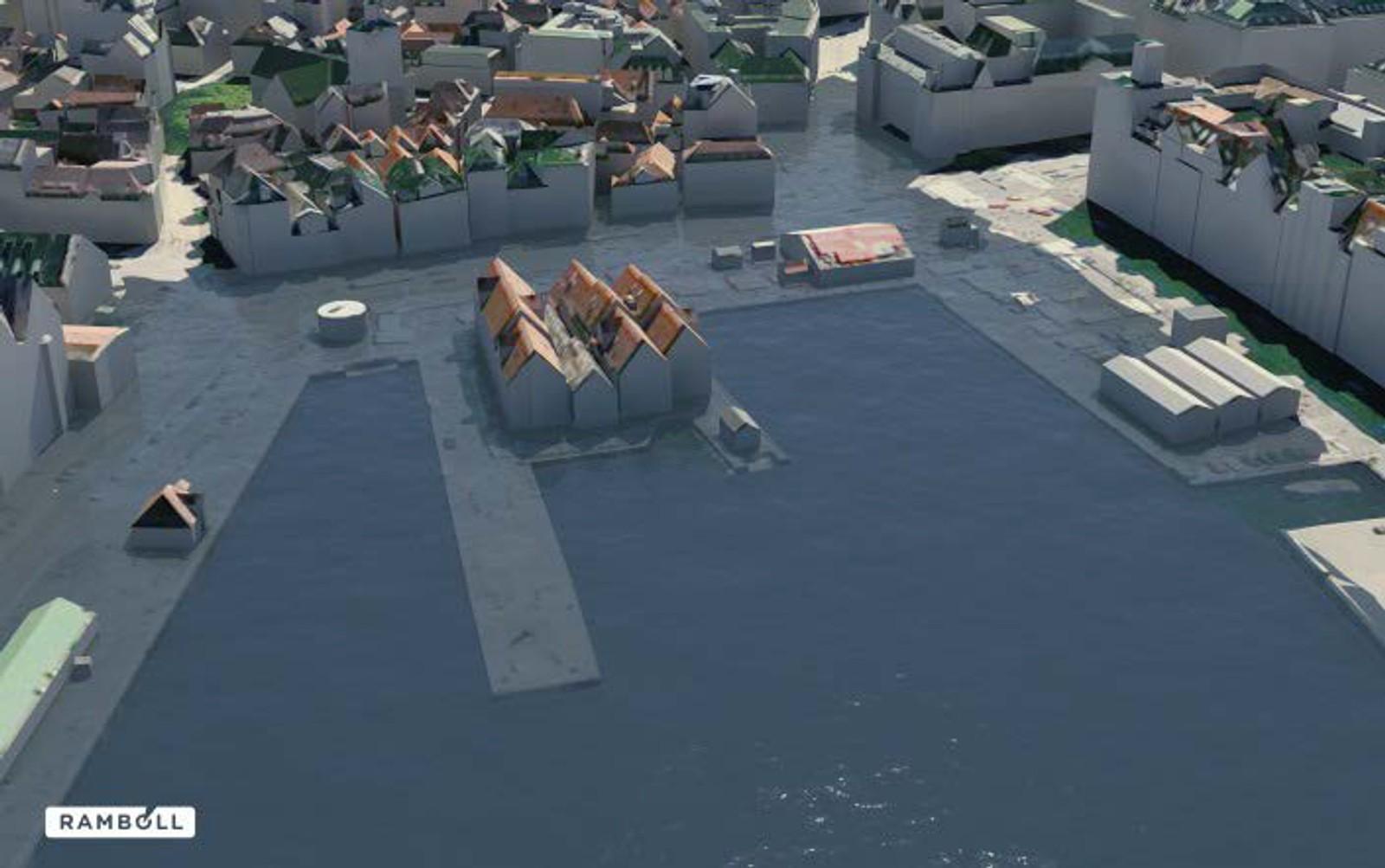 ZACHEN UNDER VANN: Vågsbunnen med med vasstand 2,37 meter over sjøkartnull.