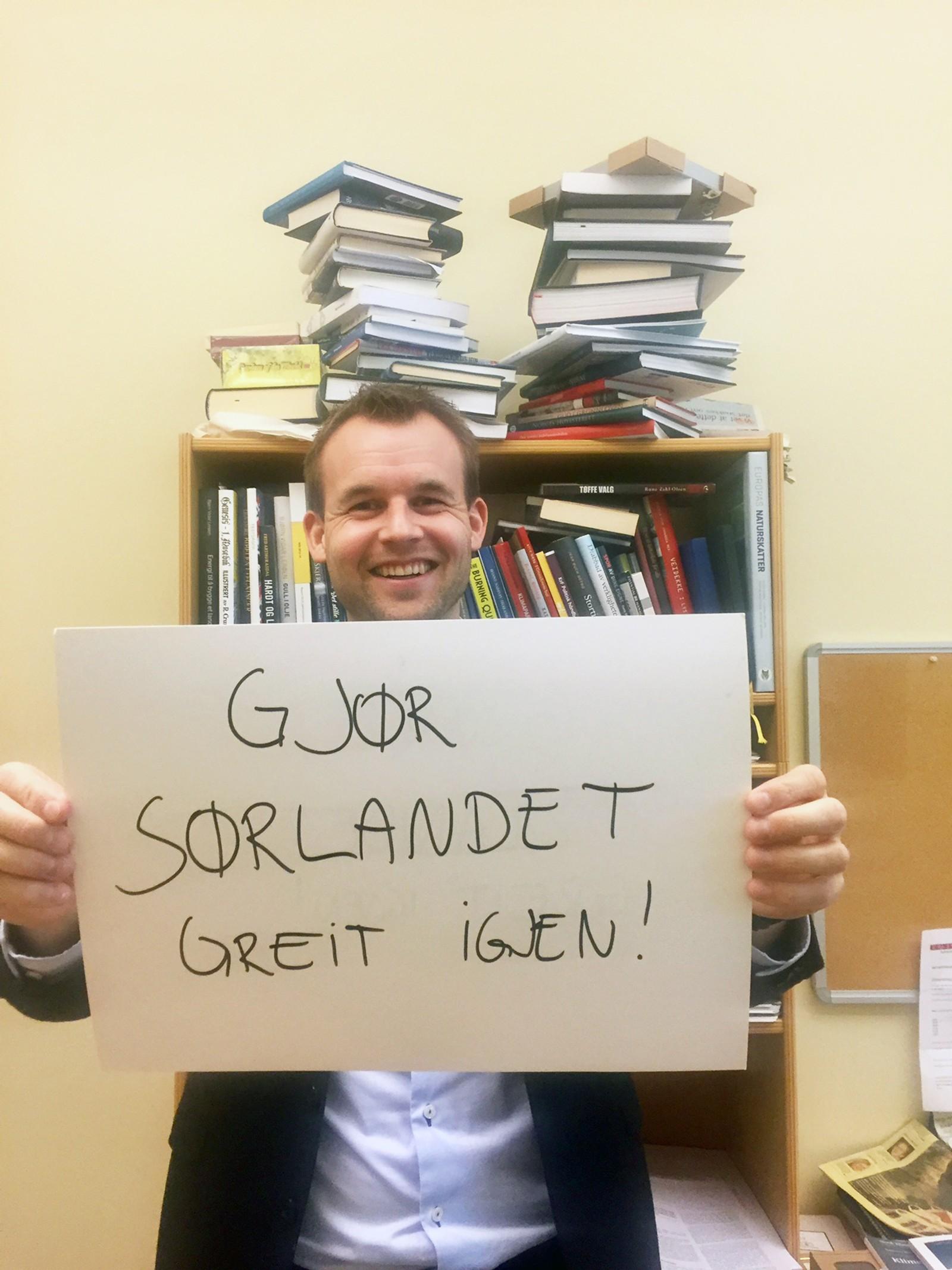 KJELL INGOLF ROPSTAD (KrF): «Gjør Sørlandet greit igjen».