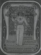 Dollar Princess heitte eitt av produkta frå Sognefjorden Sardine Co.