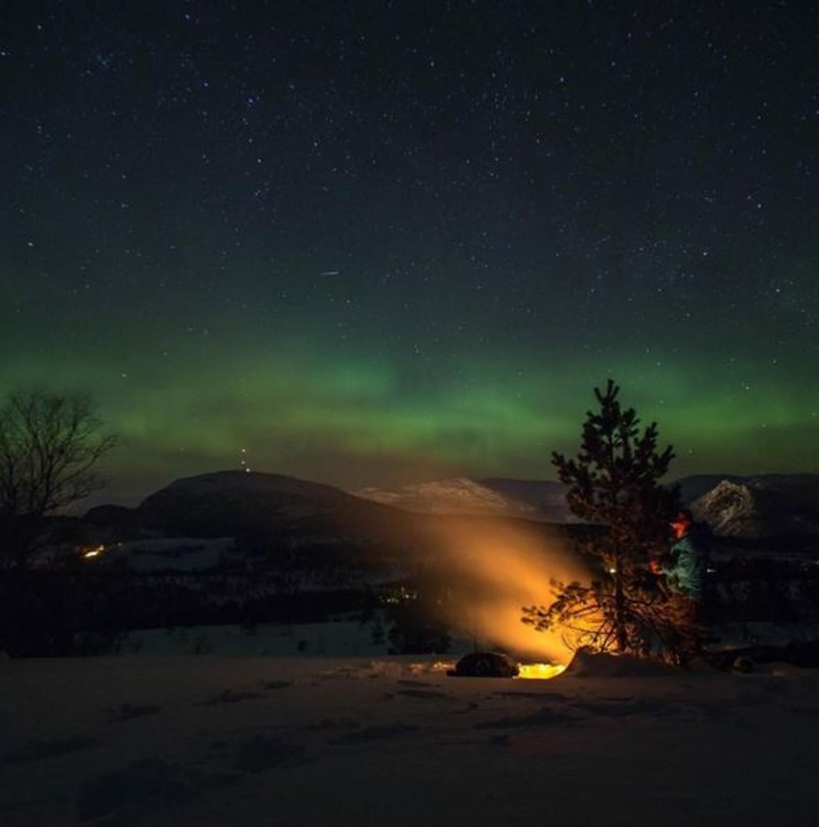 FØRDE: Nordlys over Førde