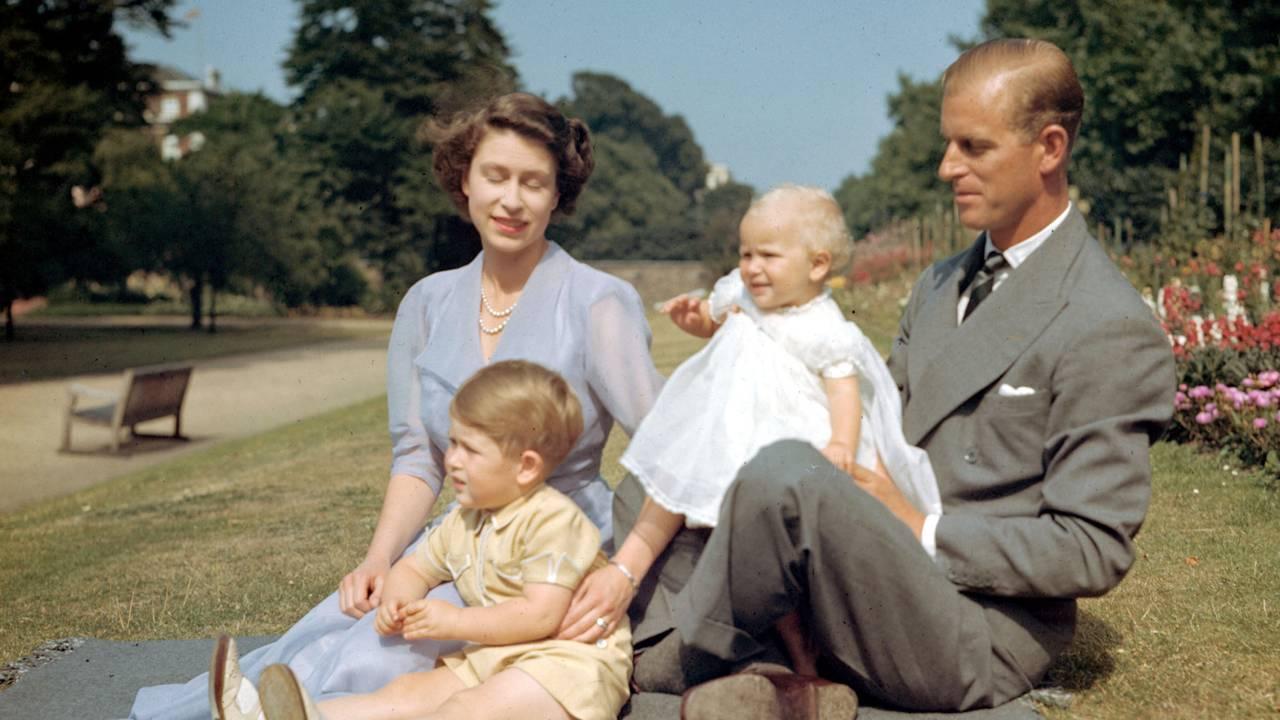 Prins Phillip og barna 1951