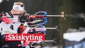 V-cup skiskyting: Jaktstart, menn