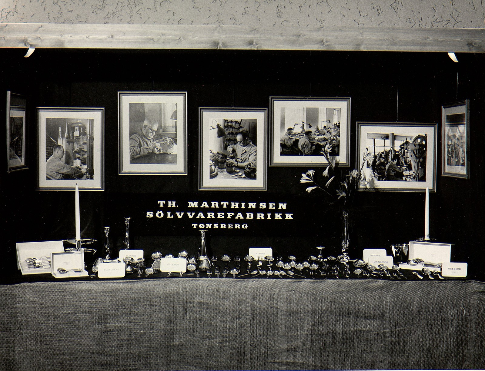 Utstilling i Haugesund 1963. Fotograf ukjent.