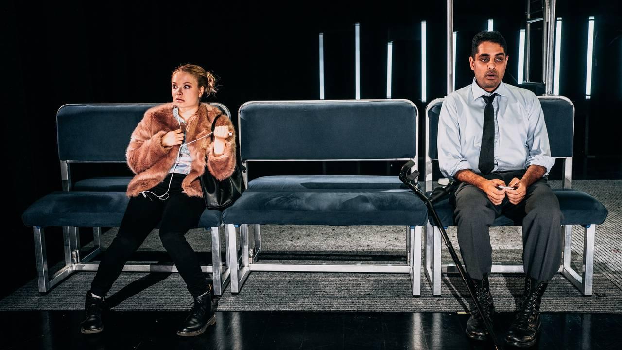 Fra Det Norske Teatret-forestillingen «Linje 5» på Rommen Scene.