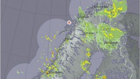 Radarbilde 21.juni 2017 - Foto: NRK