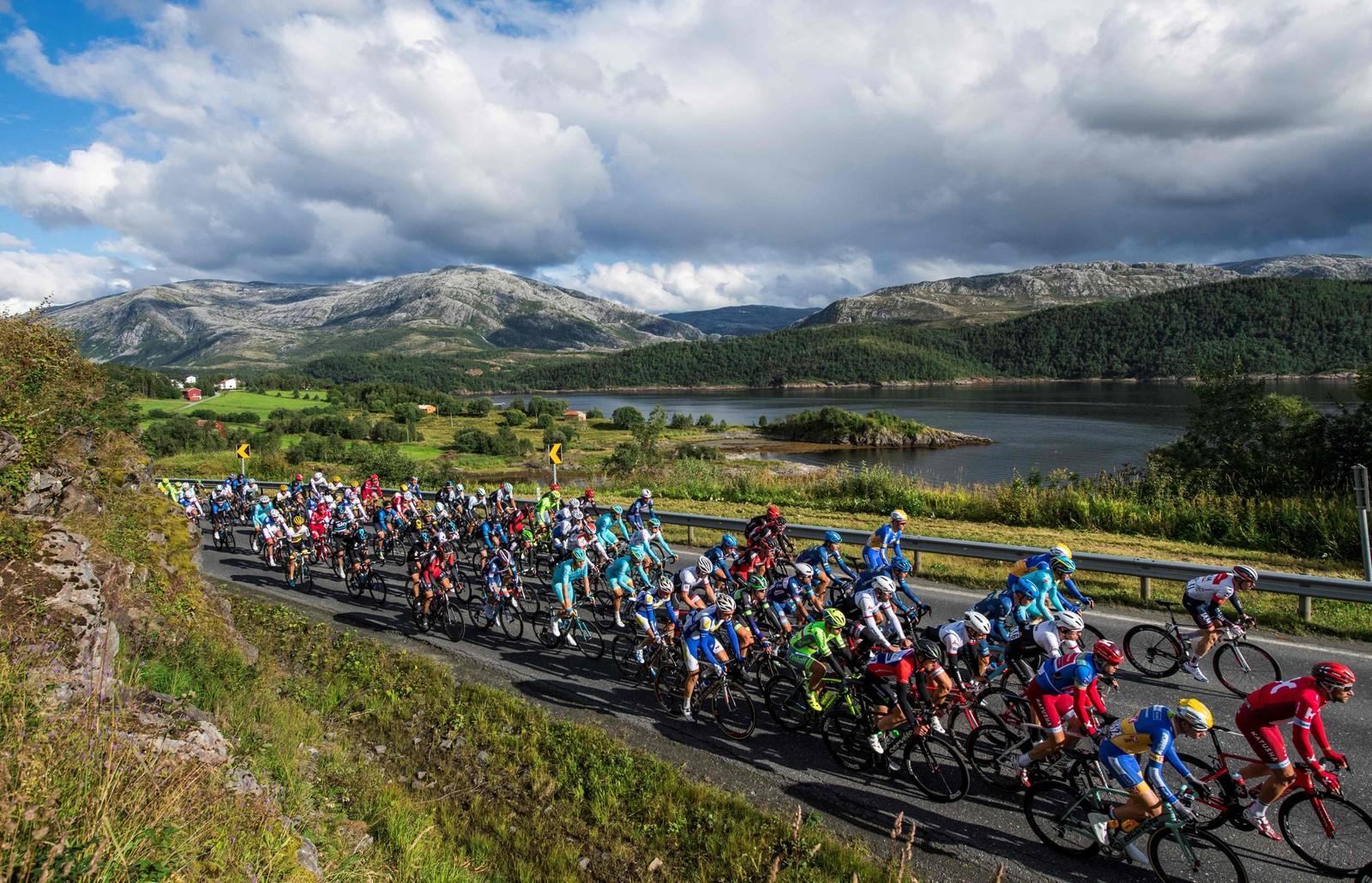 Fra fredagens etappe av Arctic Race of Norway.