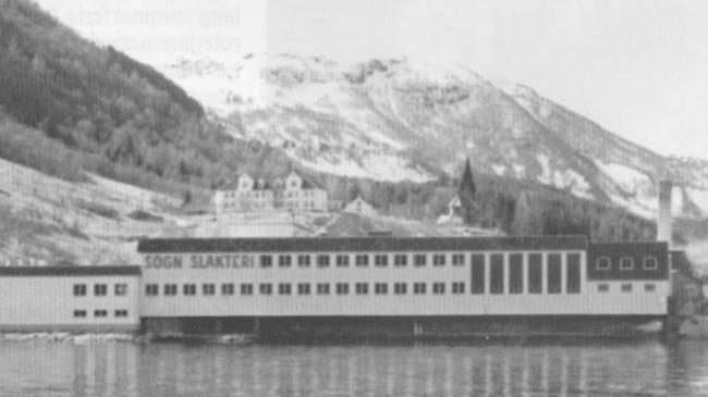 Sogn Slakteri i Sogndal i 1961. Foto: Vestlandske Salslag.
