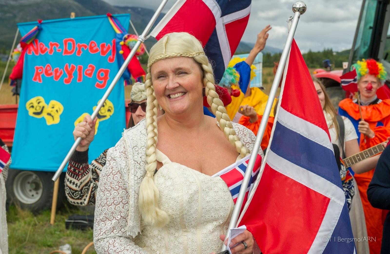 Sprek bekledning for å heie frem de norske utøverne.