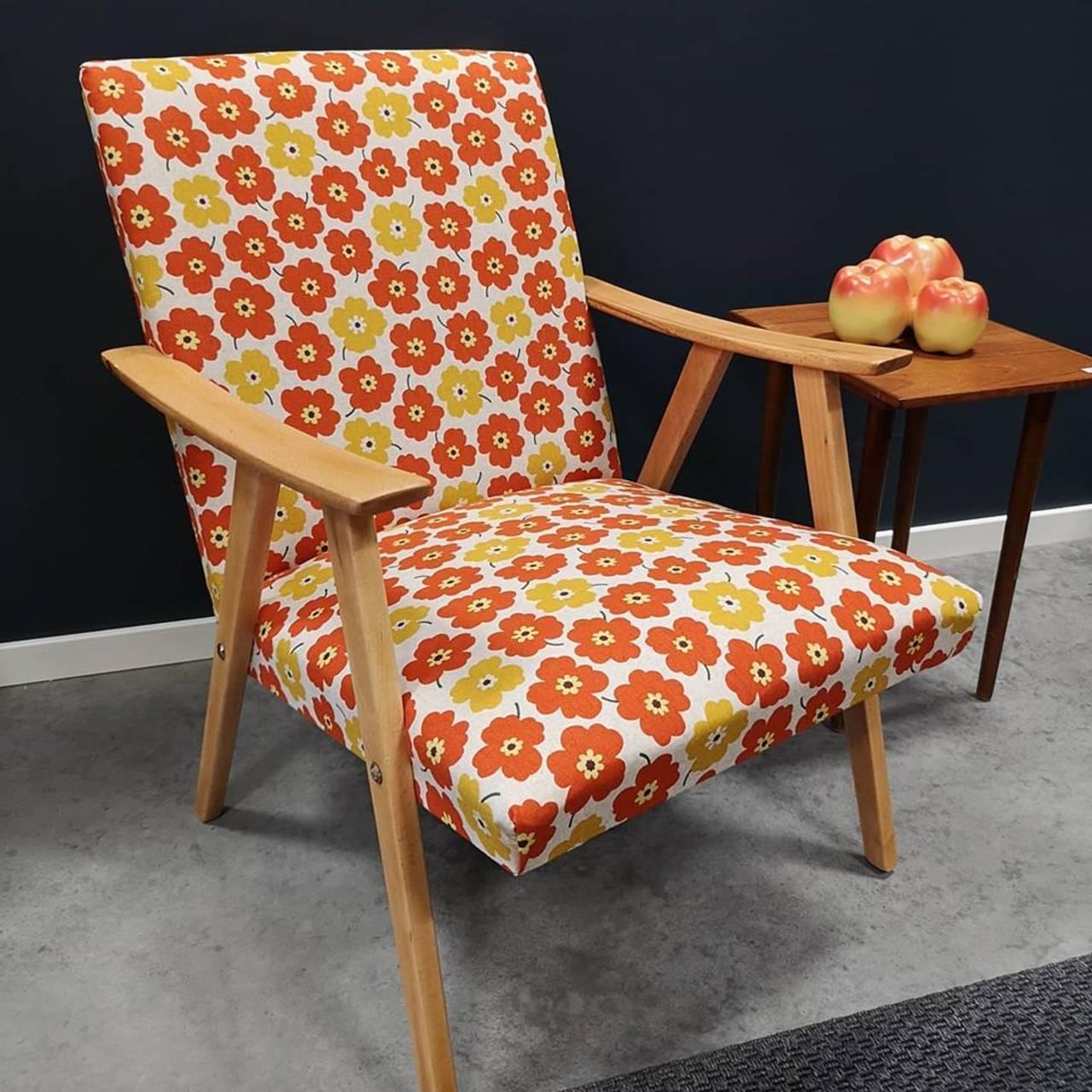 Retro stol fra Gå Retro på Gålåsholmen.