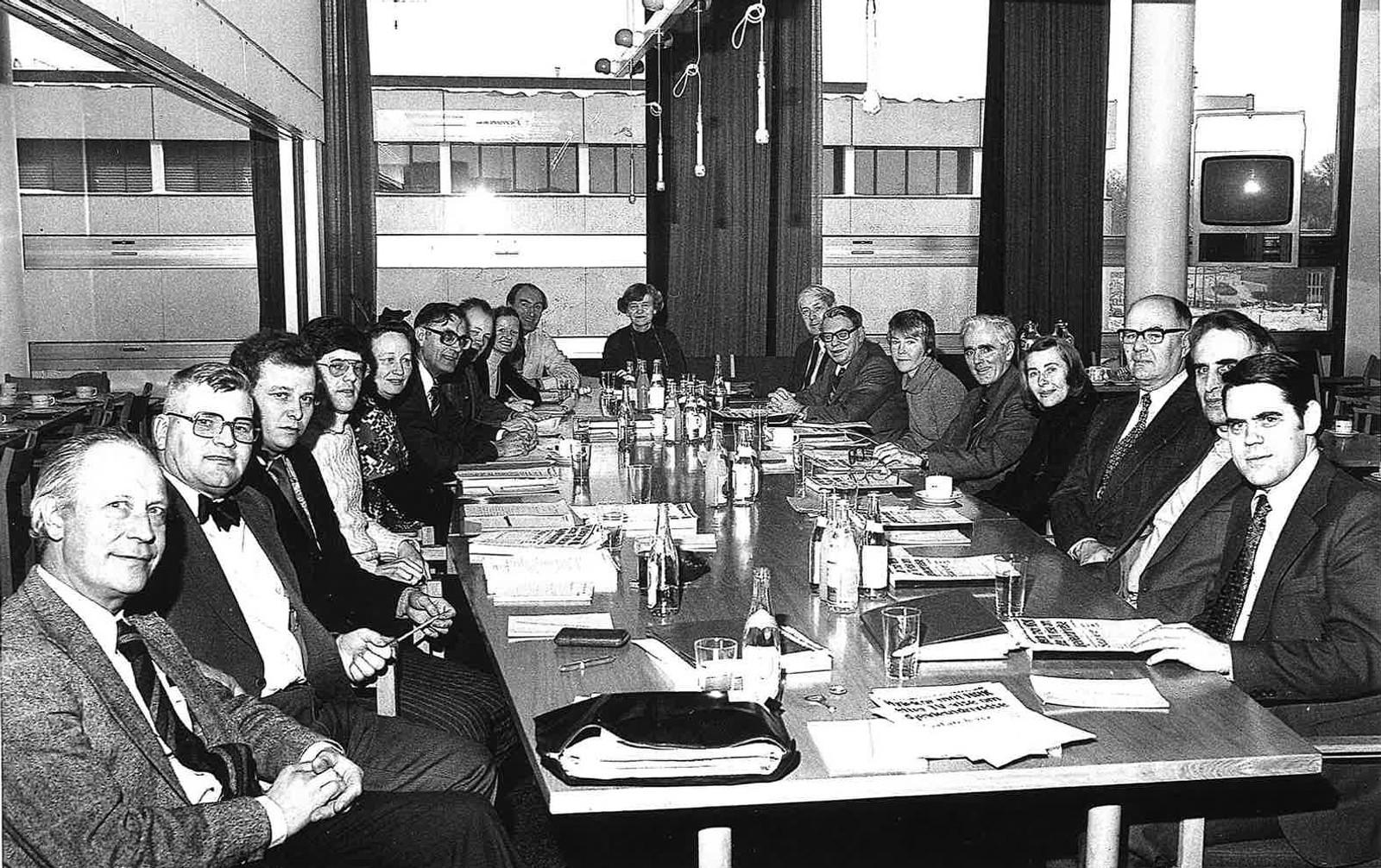 Kringkastingsrådet 1978 - 1981 møte på Marienlyst - ledet av Jo (Johanne) Gievær Tennfjord.