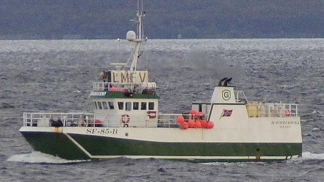 Garnbåten Havstjerna er heimehøyrande i Bremanger. Foto: Magnar Lyngstad.