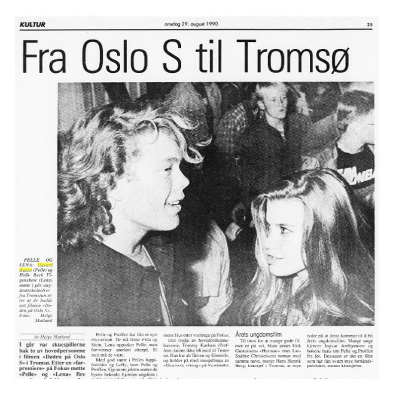 DØDEN PÅ OSLO S: Big i Tromsø.