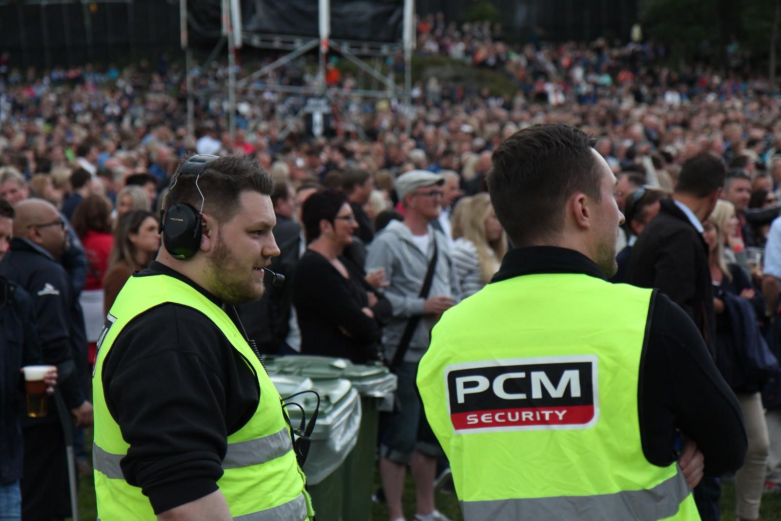 Det var mykje vakthald på konserten.