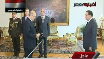 Egypts president Hosni Mubarak