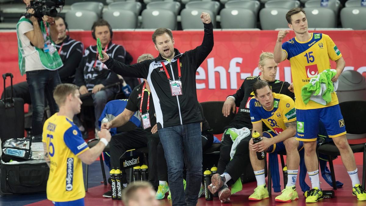 Handballaget til Sverige på bytur