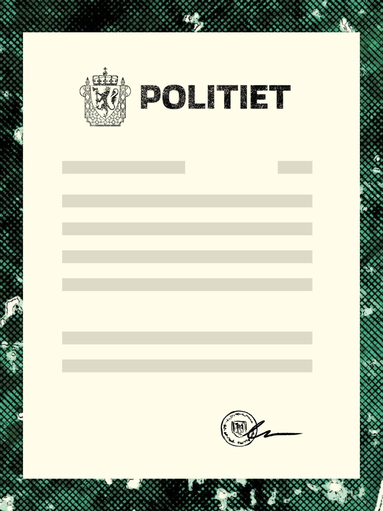 Politiattest –illustrasjon