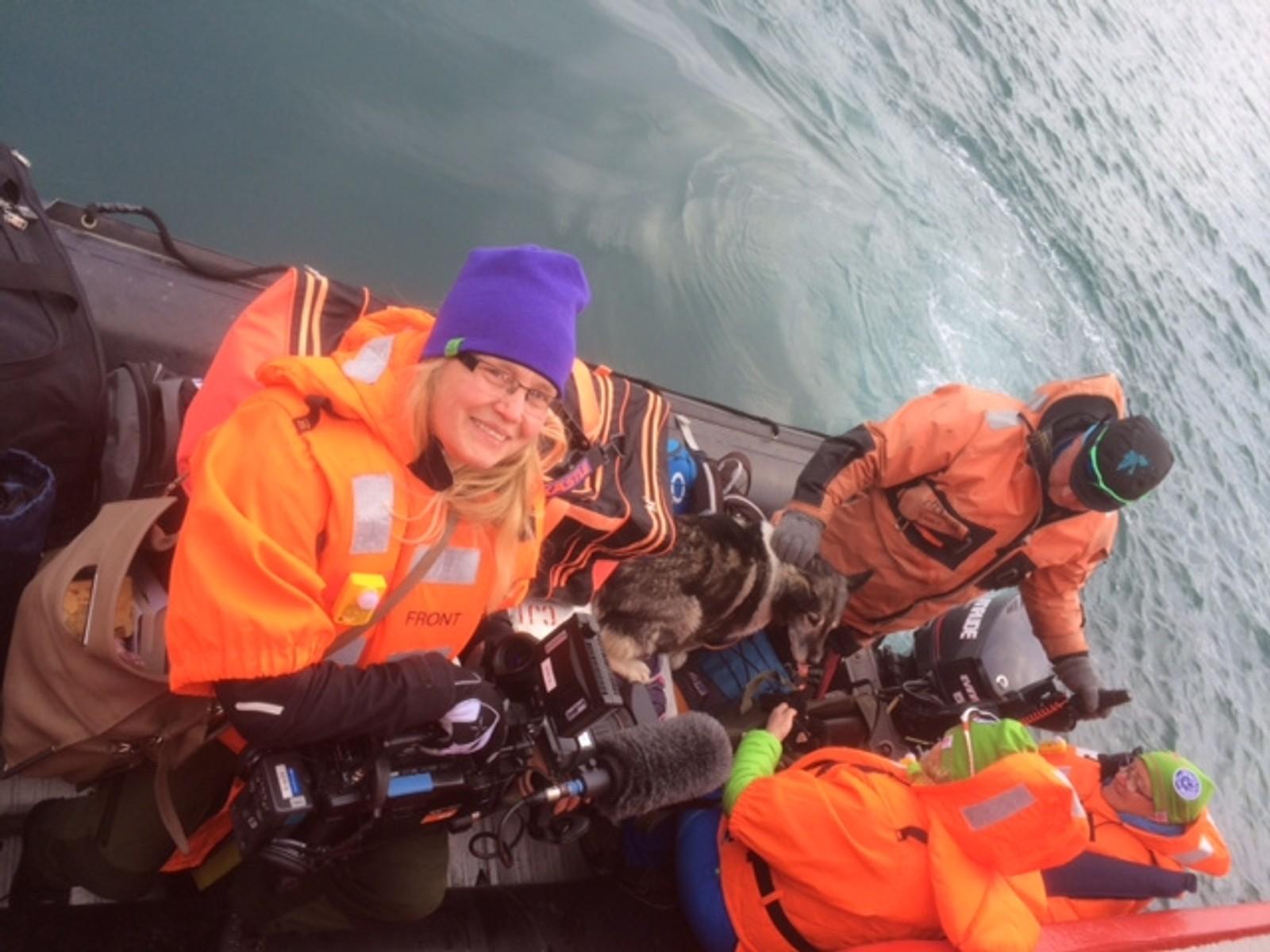 Marita på Svalbard.