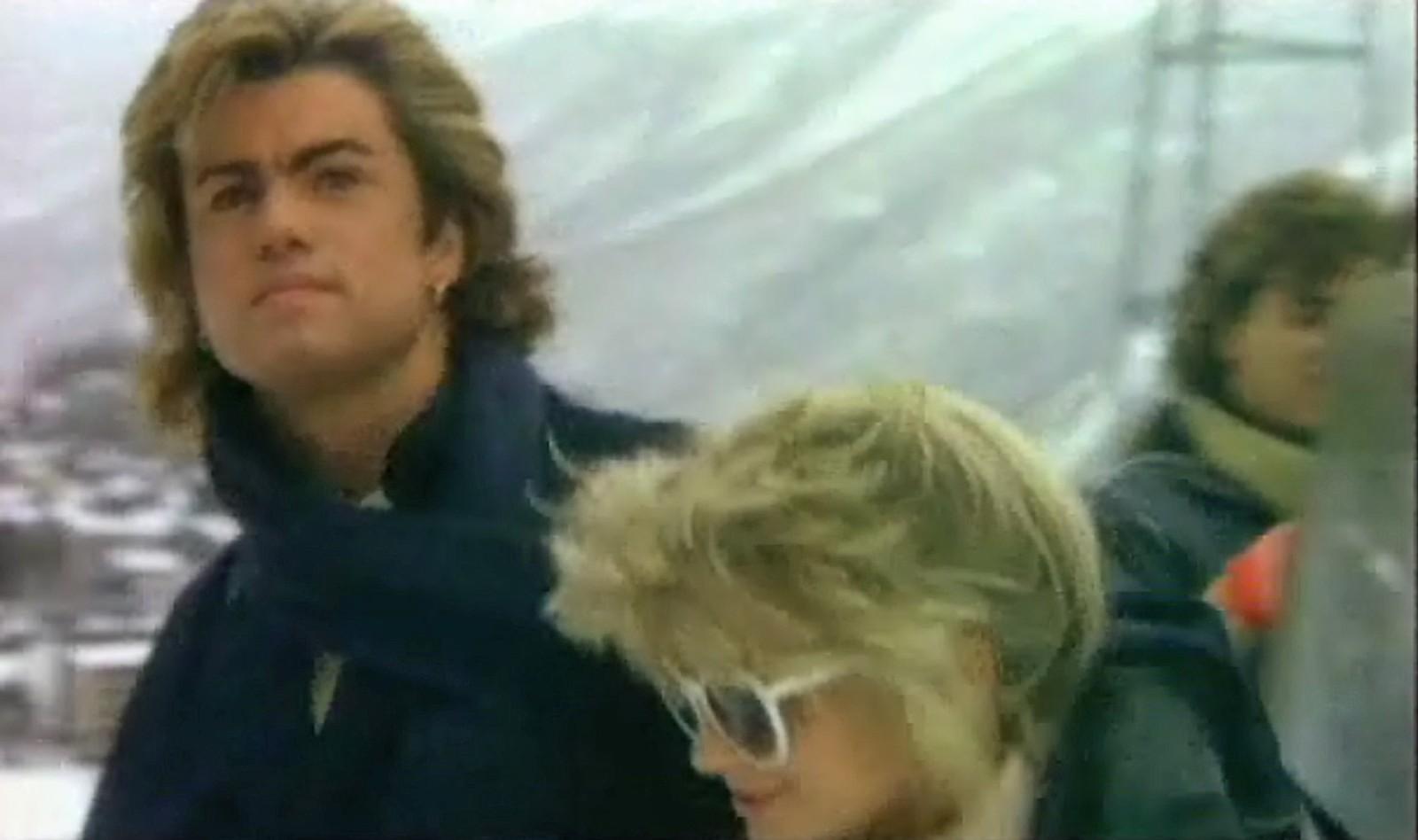 """1984: Videobilde fra megahiten """"Last Christmas"""" med Wham!"""