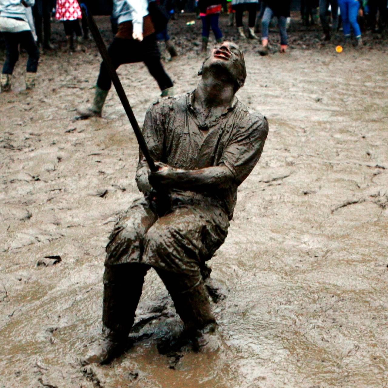 Roskilde, publikum, regn, vått, gjørme, 2007