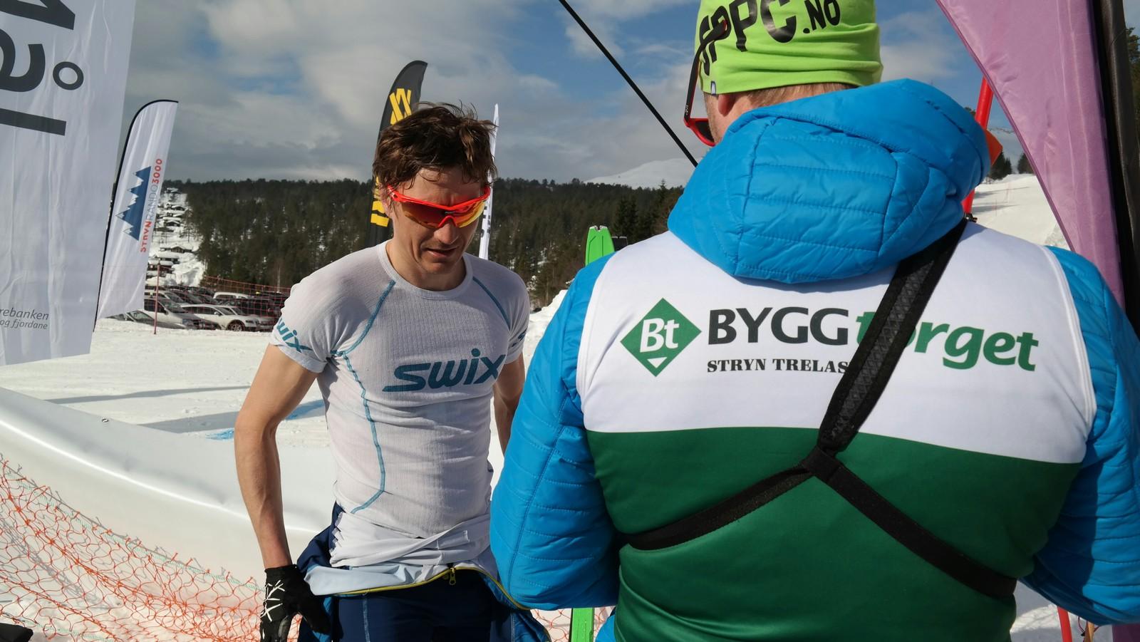 Ein godt nøgd Lars Eirik Skjervheim etter målgang.