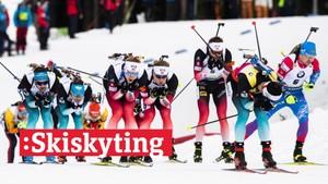 V-cup skiskyting: Fellesstart, menn